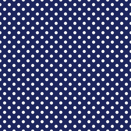 polka dots: Vector seamless pattern with white polka dots on a sailor navy blue background  Texture for cards, invitations, wedding or baby shower albums, backgrounds, arts and scrapbooks  Illustration