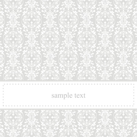 Classic, elegant vector card or invitation for party, birthday or wedding with white lace. Cute background with white space to put your own text message. Vector