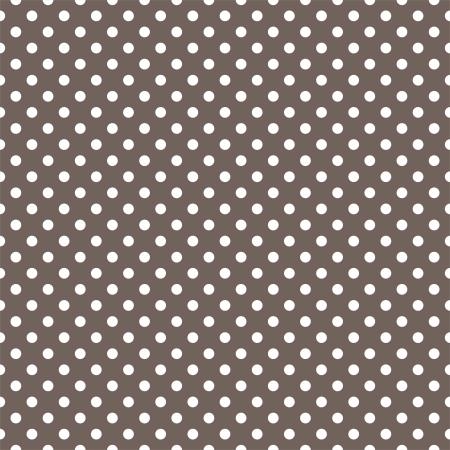 naadloze patroon met kleine witte stippen op een donkere bruine achtergrond. Voor kaarten, uitnodigingen, bruiloft of baby shower albums, achtergronden, kunst en plakboeken. Vector Illustratie