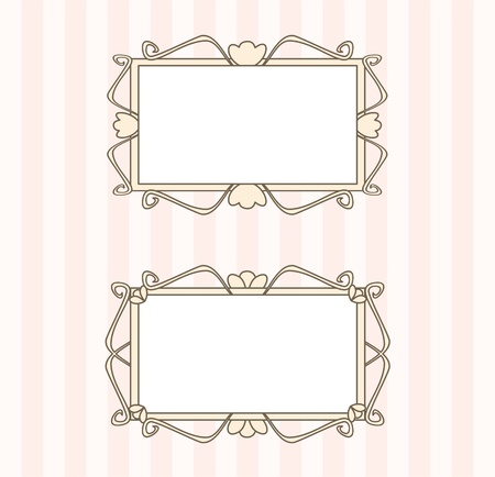 Sweet retro art deco frames  Vector illustration isolated on white background with empty space to put picture or text Vector
