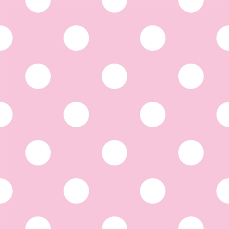 Vector seamless pattern with huge white polka dots on a pastel pink background   Vector