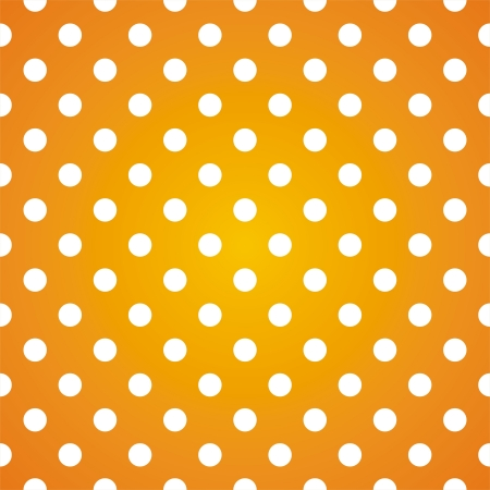 repetition row: seamless pattern with white polka dots on a sunny yellow gradient background. For cards, invitations, wedding or baby shower albums, backgrounds, arts and scrapbooks. Illustration