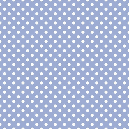 seamless pattern with white polka dots on a sweet pastel blue background. For cards, invitations, wedding, baby shower, albums, backgrounds, arts, decorating or scrapbooks. Illustration