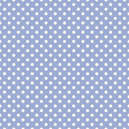 polka dot fabric: seamless a pois bianchi su uno sfondo azzurro pastello dolce. Per le schede, inviti, matrimoni, baby shower, album, sfondi, arte, decorare o album di ritagli. Vettoriali