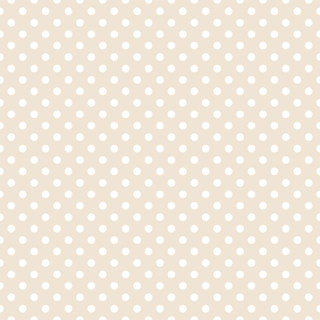 White polka dots on light beige, neutral background - retro seamless pattern for backgrounds, blogs, www, scrapbooks, party or baby shower invitations and elegant wedding cards.