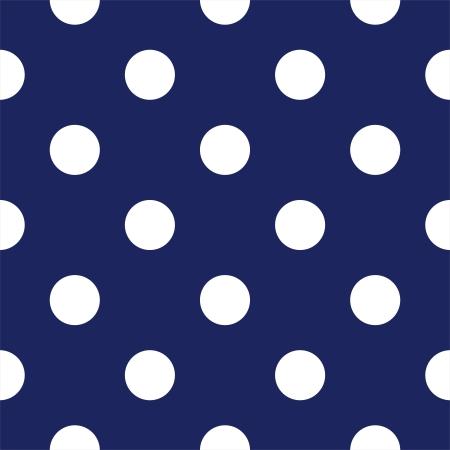 seamless pattern avec de grands pois blancs sur un fond marin bleu marine. Pour les albums de douche cartes, invitations, mariage ou bébé, arrière-plans, des arts et des albums. Vecteurs