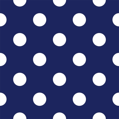 seamless pattern with big white polka dots on a sailor navy blue background. For cards, invitations, wedding or baby shower albums, backgrounds, arts and scrapbooks. Vector