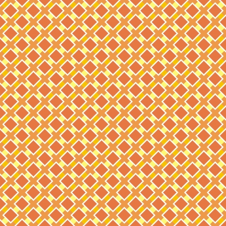 Vector background for website, wallpaper, desktop, invitations, wedding or birthday card and scrapbook. Seamless retro pattern in yellow and sunny orange. Vector