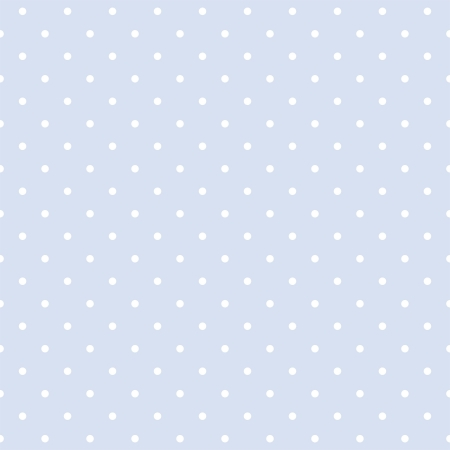 Vector seamless pattern with white polka dots on a sweet pastel blue background  For cards, invitations, wedding, baby shower, albums, backgrounds, arts, decorating or scrapbooks