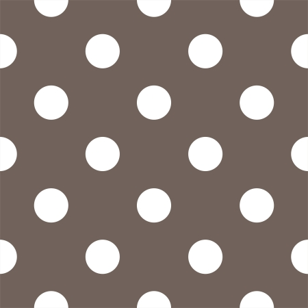 Vector seamless pattern with huge white polka dots on a dark brown background. For cards, invitations, wedding or baby shower albums, backgrounds, arts and scrapbooks.