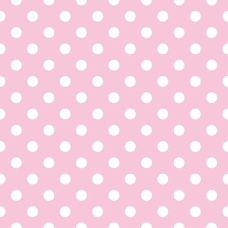 patrón transparente con pequeños lunares blancos sobre un fondo rosa pastel. Para las tarjetas, álbumes, fondos, artes, artesanías, tejidos, decoración o libros de recuerdos.