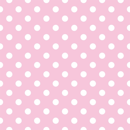 seamless pattern with small white polka dots on a pastel pink background. For cards, albums, backgrounds, arts, crafts, fabrics, decorating or scrapbooks. Vector