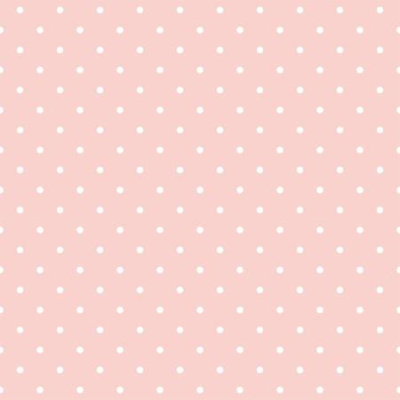 seamless pattern avec des petits pois blancs sur fond rose pastel. Pour les cartes, des albums, des origines, des arts, de l'artisanat, tissus, décoration ou des albums.
