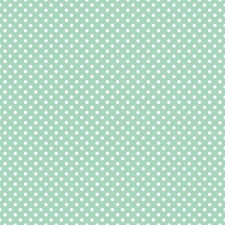 polka dot fabric: Vector seamless pattern a pois bianchi su sfondo retr� verde menta Per gli album doccia carte, inviti, matrimonio o bambino, sfondi, arte e album Vettoriali