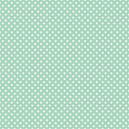 Vector seamless pattern with white polka dots on a retro mint green background  For cards, invitations, wedding or baby shower albums, backgrounds, arts and scrapbooks  Vector