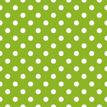 polka dots:  seamless pattern with white polka dots on a retro fresh, spring grass green background  For cards, invitations, wedding or baby shower albums, spring or summer backgrounds, arts and scrapbooks