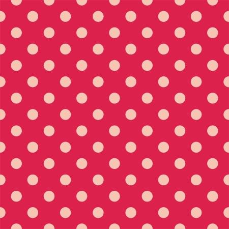 red polka dots: Modelo retro con los lunares en fondo rojo - Patr�n de retro sin fisuras para los fondos, blogs, �lbumes de recortes, WWW, invitaciones a fiestas o Baby Shower y tarjetas de boda.