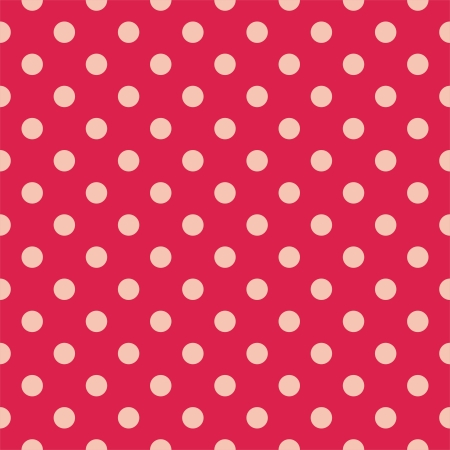 Retro  pattern with polka dots on red background - retro seamless pattern for backgrounds, blogs, www, scrapbooks, party or baby shower invitations and wedding cards. Vector