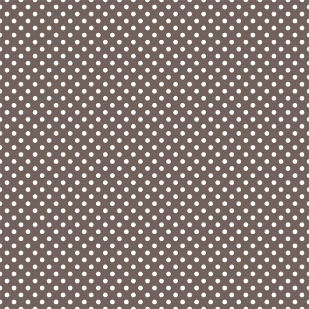 seamless pattern with small white polka dots on a dark brown background. For cards, invitations, wedding or baby shower albums, backgrounds, arts and scrapbooks. Vector