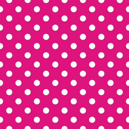 christmas pink: Vector seamless pattern with white polka dots on a neon pink background  For cards, albums, backgrounds, arts, crafts, fabrics, decorating or scrapbooks