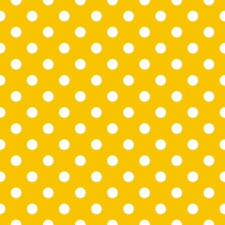 Vector seamless pattern a pois bianchi su fondo giallo sole. Per gli album doccia carte, inviti, matrimonio o per bambini, sfondi, arte e album.