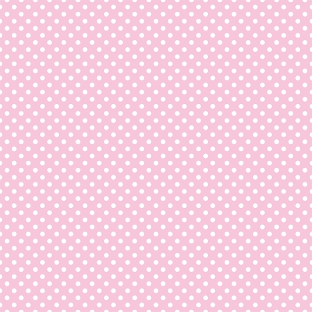 Vector seamless pattern with small white polka dots on a pastel pink background. For cards, albums, backgrounds, arts, crafts, fabrics, decorating or scrapbooks.