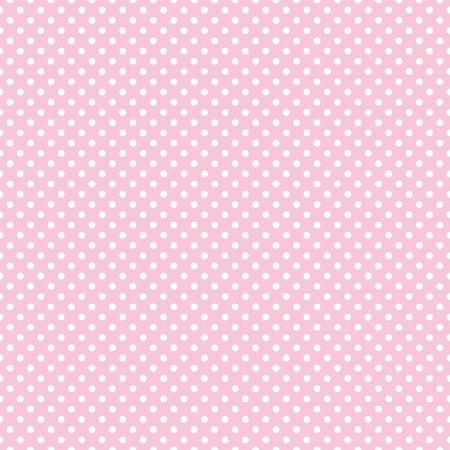 Vector sin patrón con pequeños lunares blancos sobre un fondo rosa pastel. Para las tarjetas, álbumes, fondos, artes, artesanías, tejidos, decoración o libros de recuerdos.