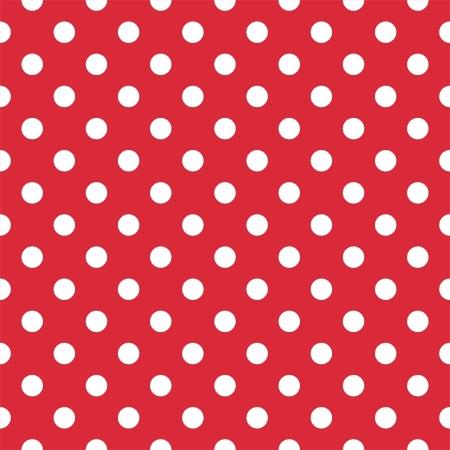 lunares rojos: Modelo retro con los lunares blancos sobre fondo rojo - modelo retro para los fondos, blogs, álbumes de recortes, WWW, invitaciones a fiestas o Baby Shower y tarjetas de boda. Vectores