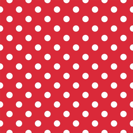 Retro pattern with white polka dots on red background - retro seamless pattern for backgrounds, blogs, www, scrapbooks, party or baby shower invitations and wedding cards. Vector
