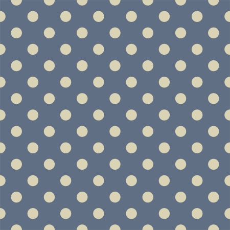 Seamless pattern with beige nude polka dots on a sailor navy dark blue background. Texture for cards, invitations, wedding or baby shower albums, backgrounds, arts and scrapbooks. Stock Vector - 15305944