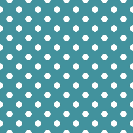 polka dots: Vector seamless pattern with white polka dots on a ocean green or blue background. For cards, invitations, wedding, baby shower, albums, backgrounds, arts, decorating or scrapbooks. Illustration