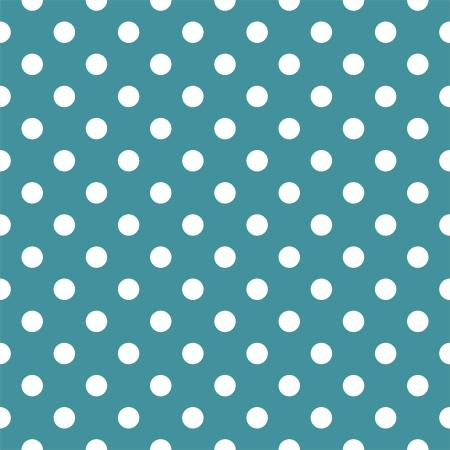 Wektor szwu wzór z białymi kropkami na ocean tle zielonym lub niebieskim. Dla karty, zaproszenia, ślubne, baby shower, albumy, tła, sztuka, dekoracja lub wyklejania.