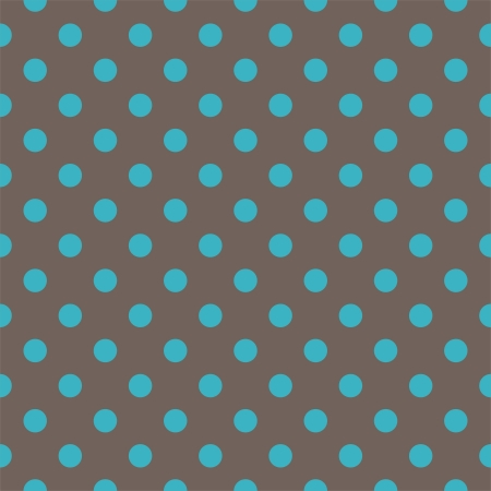 dots: seamless pattern with bottle blue polka dots on a dark brown background. Texture for cards, invitations, wedding or baby shower albums, backgrounds, arts and scrapbooks. Illustration