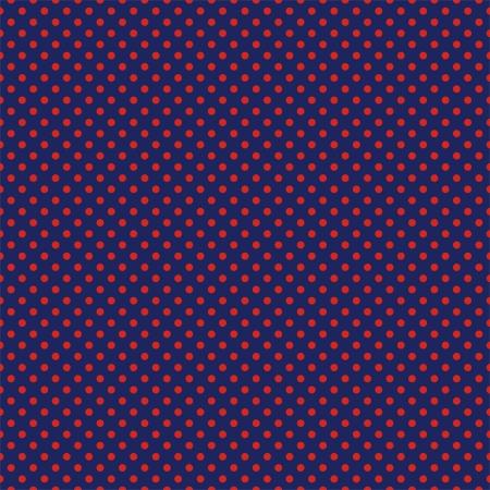 granatowy: Wektor bez szwu deseń z czerwonymi kropkami na granatowym marynarskim niebieskim tle. Dla karty, zaproszenia, albumy ślubne lub dziecko prysznicem, tła, sztuki i albumy.