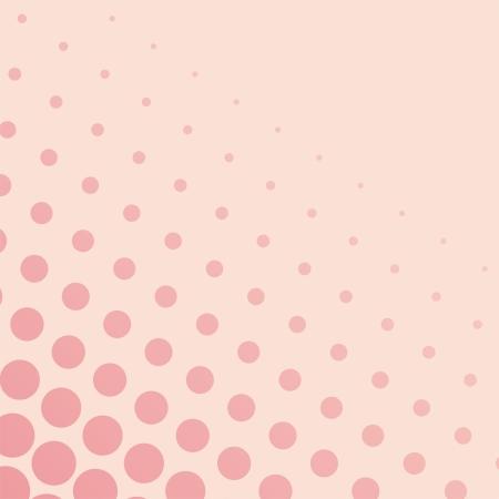 encantador: Fundo do vetor com grandes e pequenos pontos-de-rosa em um fundo rosa pastel. Para cartões, álbuns, fundos, artes, artesanato, tecidos, decoração ou scrapbooks. Ilustração