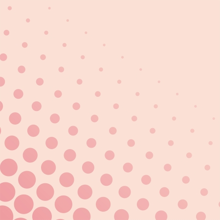 Vector background with big and small pink dots on a pastel pink background. For cards, albums, backgrounds, arts, crafts, fabrics, decorating or scrapbooks.