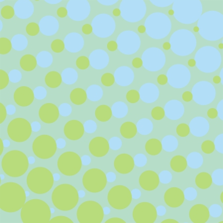 Vector background with big and small blue and mint green dots. For cards, albums, backgrounds, arts, crafts, fabrics, decorating or scrapbooks. Vector
