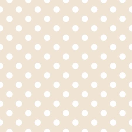 Białe kropki polka jasnobeżowy, neutralnym tle retro - wektor wzorca dla tła, blogi, www, albumy, partyjnych lub dziecko zaproszenia prysznicowych i eleganckich kart ślubnych. Ilustracja