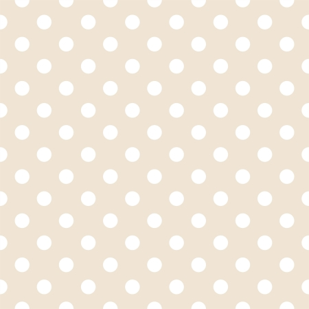White polka dots on light beige, neutral background - retro seamless vector pattern for backgrounds, blogs, www, scrapbooks, party or baby shower invitations and elegant wedding cards.