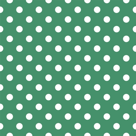 sea green: seamless pattern with white polka dots on a retro bottle green background. For cards, invitations,