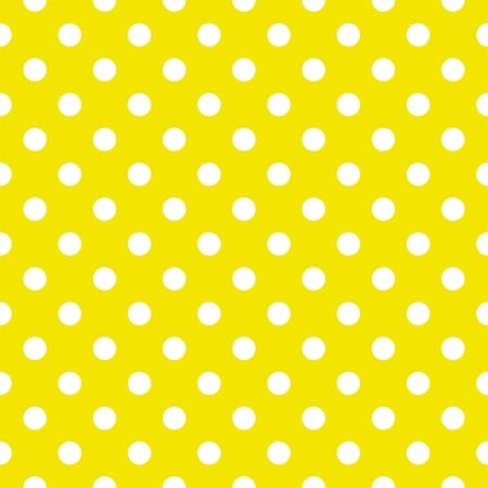 Wektor szwu wzór z białymi kropkami w słoneczny cytrynowym żółtym tle. Dla karty, zaproszenia, albumy ślubne lub dziecko prysznicem, tła, sztuki i albumy.