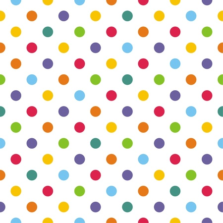 seamless pattern with points de polka colorés
