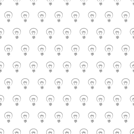 Vector seamless pattern, texture or background with black light bulbs on white background. Sign of creative invention Vector