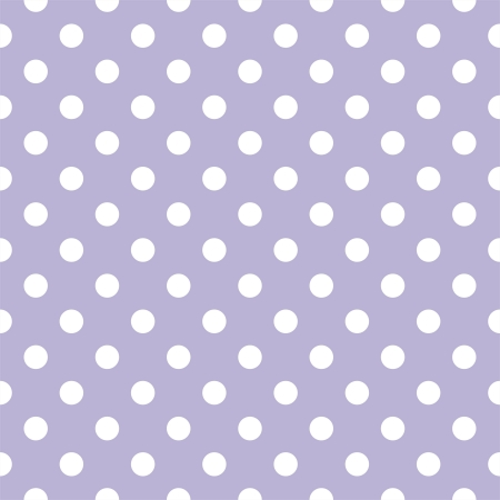 spotted: Small white polka dots on light violet background