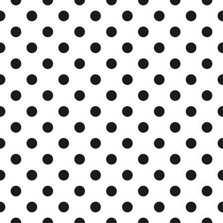 Małe czarne kropkowany na białym tle