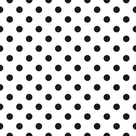 Small black polka dots on white background  Vector