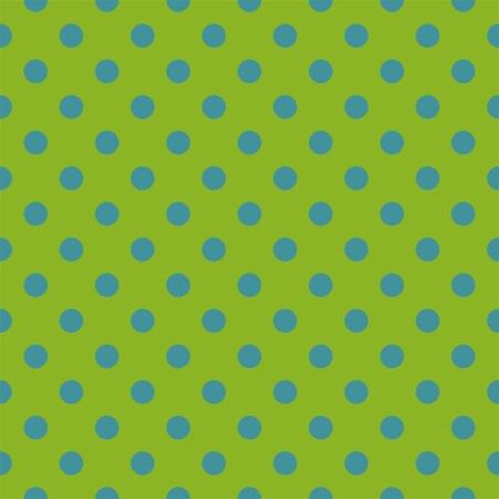 bez szwu deseniu z neonów niebieskich kropek polka na świeżej, wiosennej retro zielonym tle. Dla karty, zaproszenia, albumy ślubne lub dziecko prysznicem, tła, sztuki i albumy. Ilustracja