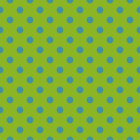 seamless pattern with neon blue polka dots on a retro fresh, spring green background. For cards, invitations, wedding or baby shower albums, backgrounds, arts and scrapbooks. Vector