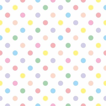 Bez szwu, tekstury lub tła w pastelowych kolorowych kropek polka. Dla poślubiona projektowania, tapety, pulpit, szablon dokumentu, prysznicem karta niemowlęcym strony lub zaproszenie na ślub