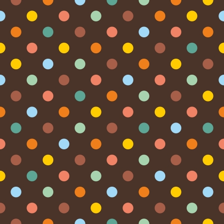 polka dot wallpaper: Seamless pattern or texture with colorful polka dots on dark brown background. For invitations, websites, wallpaper, desktop, baby shower card, background, party, web design, arts and scrapbooks.